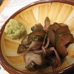羊肉酒場 悟大 - 〆のラム茶漬け500円の山葵としば漬け