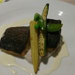 ル・ポワロン - ランチのサワラのソテーはベースの里芋と相性が良い
