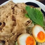 麺屋わっしょい - 男のまぜ麺+オニク10枚+味タマ♪