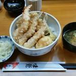 91679577 - 塩天丼1,300円。