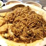 四川辣子鶏 老地方 - よく混ぜると豆腐入り汁なし担々麺みたい