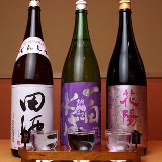 厳選重ねたとっておきの日本酒。丁寧に造られた和食と共に◎