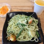 Spaghetti Mariano - 自家製ジェノベーゼ ダブル サラダセット