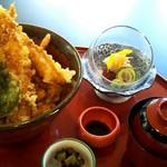 四季五彩 きわ - 海老天丼(1,500円)