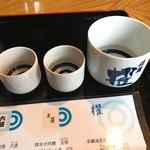 蔵元ごはん&カフェ 酒蔵 櫂 - 利き酒セット アップ