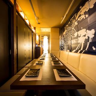 【宴会個室】団体様に最適な掘り炬燵席も完備!