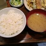天婦羅 うえじま - 天ぷら定食750円
