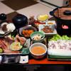 民宿宗谷岬 - 料理写真:夕食は稚内名物「たこしゃぶ」。