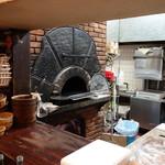 91696478 - 厨房中の薪窯