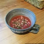 ジャム cafe 可鈴 - トマトのガスパチョ(週替わりランチにもミニプレートにも付きます)