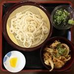 伊都菜彩 まるいとうどん - 料理写真:ざるうどん定食(\480)