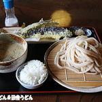 91703887 - 鯛だしの豆乳冷汁+長ナス天ぷら+〆ごはん