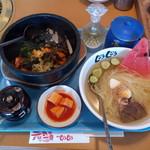 焼肉じゅうじゅう - 料理写真:石焼ビビンバとハーフ冷麺のスペシャルセット