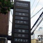 江戸幸 - 大阪屋セントラルビルの看板です。 白鳥 和 江戸幸 楽屋 桔梗 ネイキッド  色んなお店が入っているようですね。