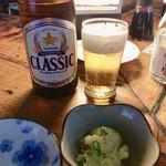 91712056 - 瓶ビール&お通し