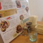 土鍋スープカレー 近江屋清右衛門 - テーブルセット