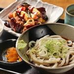 味一筋・ゆで作 - 野菜と鶏からの黒酢定食