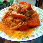 さるうて イタリアリストランテ - 料理写真:新鮮トマトとバジルのリングイネパスタ