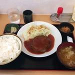 奈良屋ひよしまる - 料理写真:日替りランチ(豚ハンバーグ)