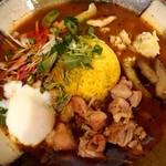 スープカレー なっぱ - 鶏なっぱスープカレー♪+温泉玉子