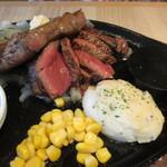ステーキハウス松木 - リブロース&赤身肉カットステーキ(2689円税込)