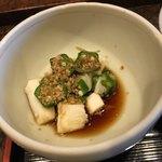串匠 - 山芋とオクラの和え物