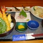 づけ丼屋 桜勘 - カンパチ・海老天丼定食(8月限定!)