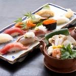 下高井戸旭鮨総本店 - 料理写真:松茸土瓶蒸しとにぎり鮨