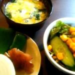 煌 - ランチ野菜・サラダ・スープ