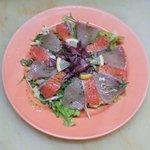 岩山海 - 旬の魚のカルパッチョ 600円