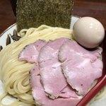 煮干中華そば鈴蘭 - 海老つけ麺、味玉付き