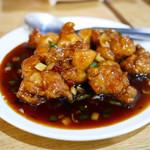 稲香居 - 鶏肉の湖南風辛味炒め ¥700