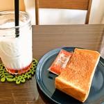 花菜ごよみ。 - 14:30〜のトーストサービス(350円~)