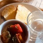 カフェ セレクト - 自家製グルテンフリーブレッドのバタートーストセット