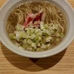 米子さっかどう - ~出会いの一皿~ ネギだく牛脂煮干し蕎麦(限定)