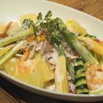 ランプキャップ - エビとグリーンアスパラ、夏野菜のシトラスサラダ