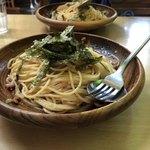 イタリアン - たらこ納豆イカの塩辛ネギ大盛り