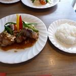 はしぐち亭 - ランチ(若鶏ガーリックソテー)