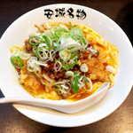 91758502 - 台湾ミンチ乗せ北京飯(¥750)。薄切り豚肉の唐揚げが乗る北京飯を、愛知名物・台湾ラーメン風にアレンジ