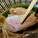 志趣饗粋 蕎麦 鷲ひら - 鴨、リフトアップ。
