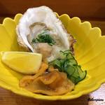 八重さわ - 牡蠣と海鞘の酢の物