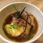 鳥彦 - モッツァレラチーズの揚げ出し   450円