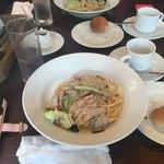 アズーリ - 鶏肉と色々キノコのビアンコラグーソース
