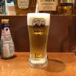 織田信長の台所 名古屋名物&三英傑手羽先 - 生ビール