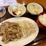 天福飯店 - 生姜焼肉セット