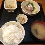 宝山 いわし料理 大松 - 刺身定食@500円