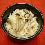 なか安 - H30.秋コース(五種類のきのこ 炊込みご飯)