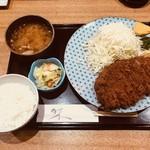 とんかつ 鉄 - 上ロースかつ定食(1,500円)