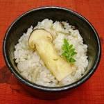 なか安 - H30.秋コース(松茸御飯)