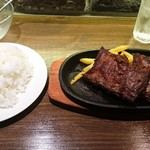 91781354 - 牛ハラミステーキ ご飯大盛り(18-08)